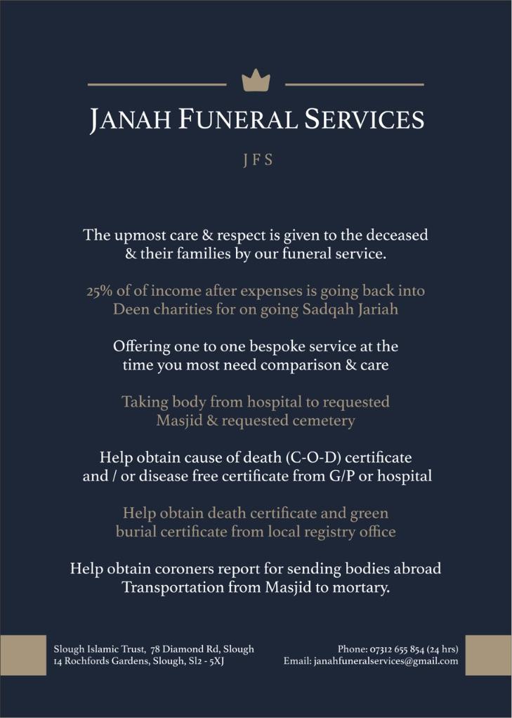 Janah Funeral Services Slough